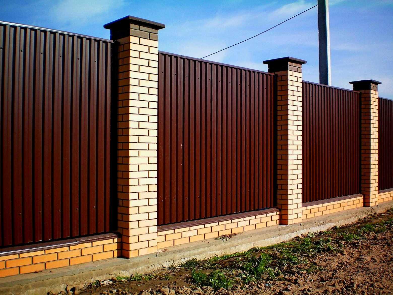 Забор Коломна: Строительство заборов любой сложности от 300р/ м. пог. в Коломне, Коломна (фото)